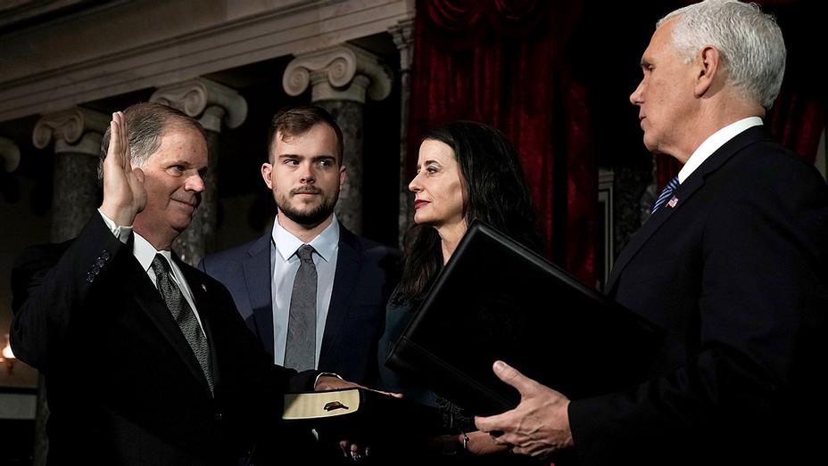 U.S. Sen. Doug Jones -Vice President Mike Pence- Getty-H 2017