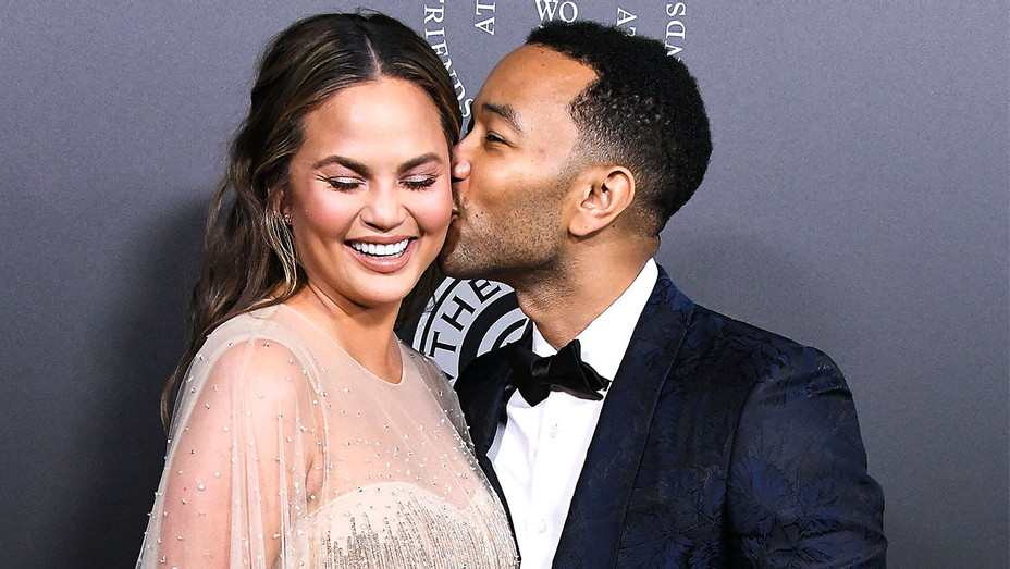 Chrissy Teigen and John Legend - 2018 Art of Elysium Celebration - Getty - H 2018