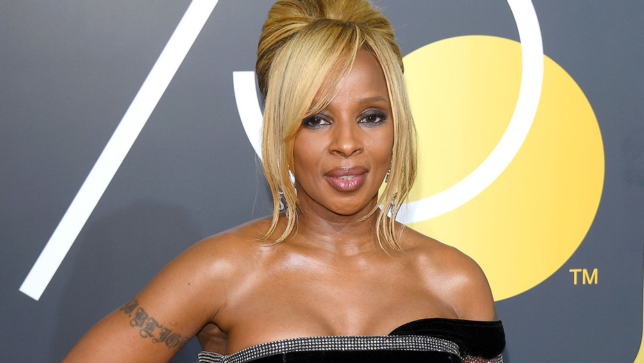 Mary J. Blige  attends The 75th Annual Golden Globe Awards -Getty- H 2018