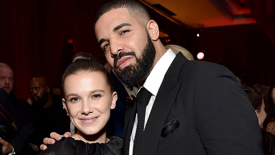 Millie Bobby Brown and Drake attend the Netflix Golden Globes after party - Getty-h 2018