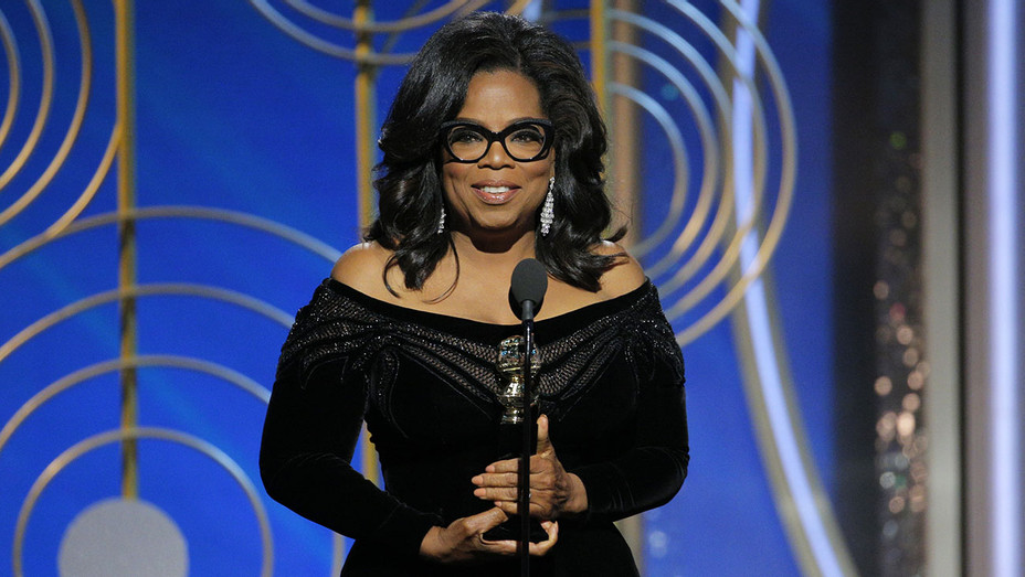 Oprah Winfrey accepts the 2018 Cecil B. DeMille Award  - Getty-H 2018