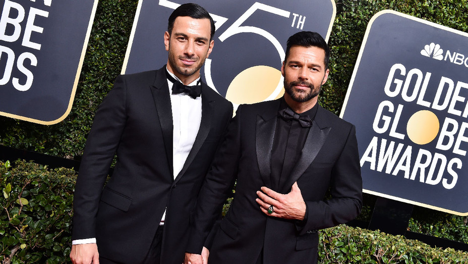 Jwan Yosef and Ricky Martin - 2018 75th Annual Golden Globes - Getty - H 2018