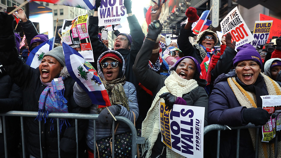 Times Square Martin Luther King Day Demonstration - Getty - H 2018