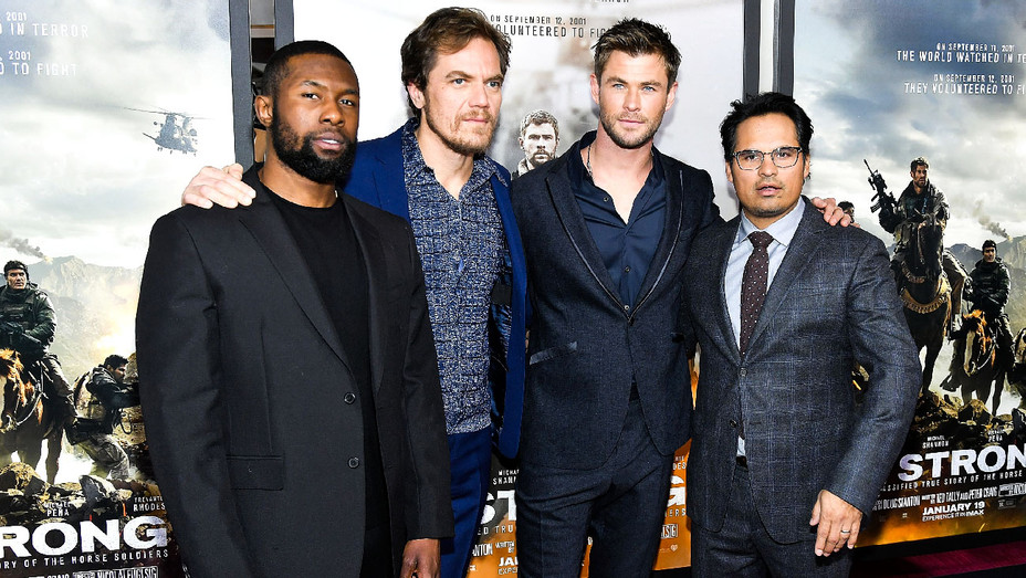 Trevante Rhodes, Michale Shannon, Chris Hemsworth and Michael Pena - 12 Strong World Premiere - Getty - H 2018