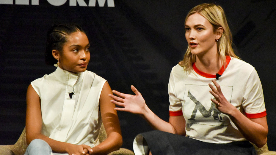 Yara Shahidi and Karlie Kloss - Freeform Summit - Getty - H 2018
