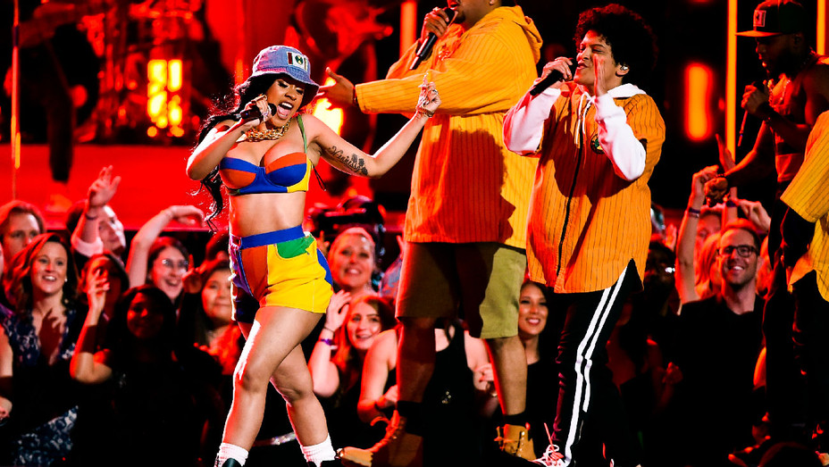 Cardi B. and Bruno Mars Grammys Performance - Getty - H 2018