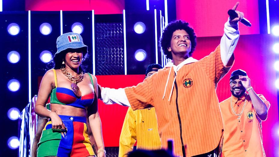 Bruno Mars and Cardi B Performance - Grammys Performance - Getty - H 2018