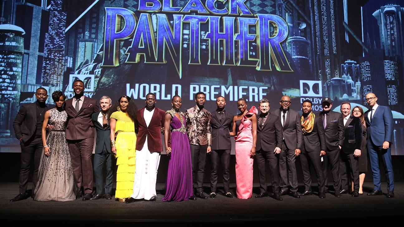 Los Angeles World Premiere of Marvel Studios BLACK PANTHER - Cast -H 2018