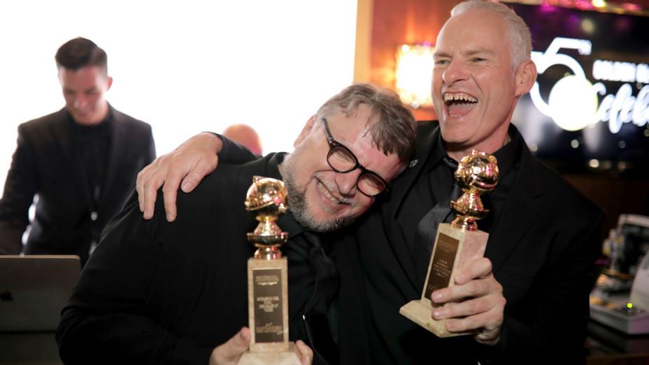 Guillermo del Toro, Martin McDonagh at Golden Globes Party - H 2018