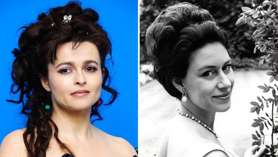 Helena Bonham Carter and Princess Margaret - Split - Getty - H 2018