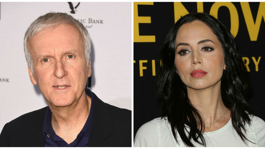 James Cameron and Eliza Dushku - Getty Images - H 2018