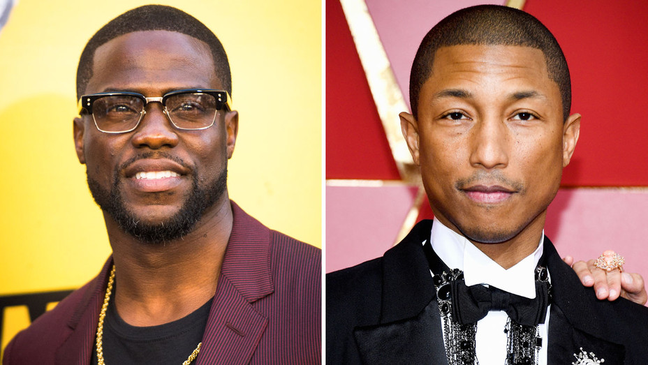 Kevin Hart and Pharrell Williams - Split - Getty - H 2018