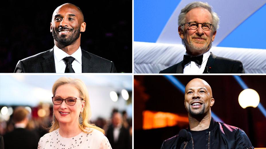 Kobe Bryant, Common, Meryl Streep and Steven Spielberg - Split - Getty - H 2018