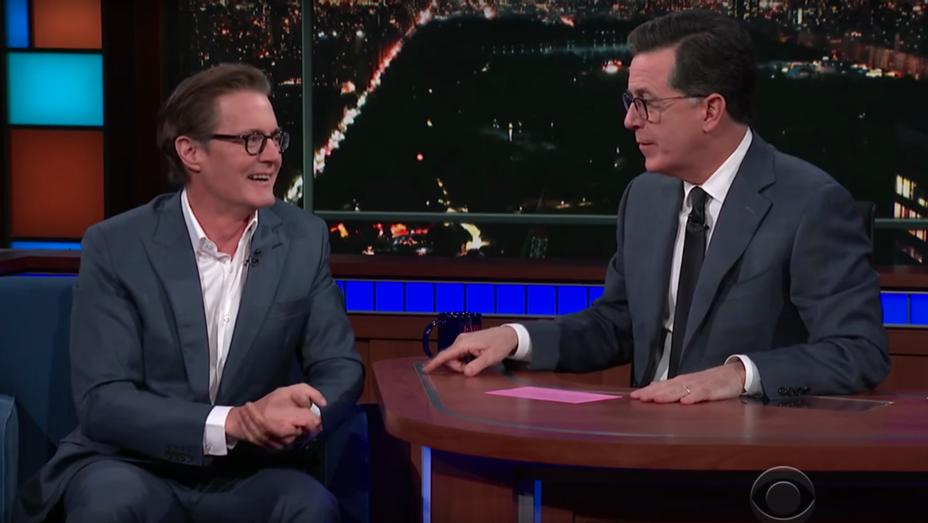 Kyle MacLachlan and Stephen Colbert - Screenshot - H 2018