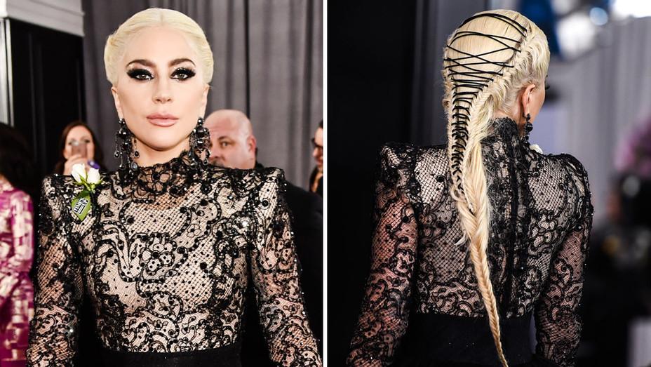 Lady Gaga Hair - Split - Getty - H 2018