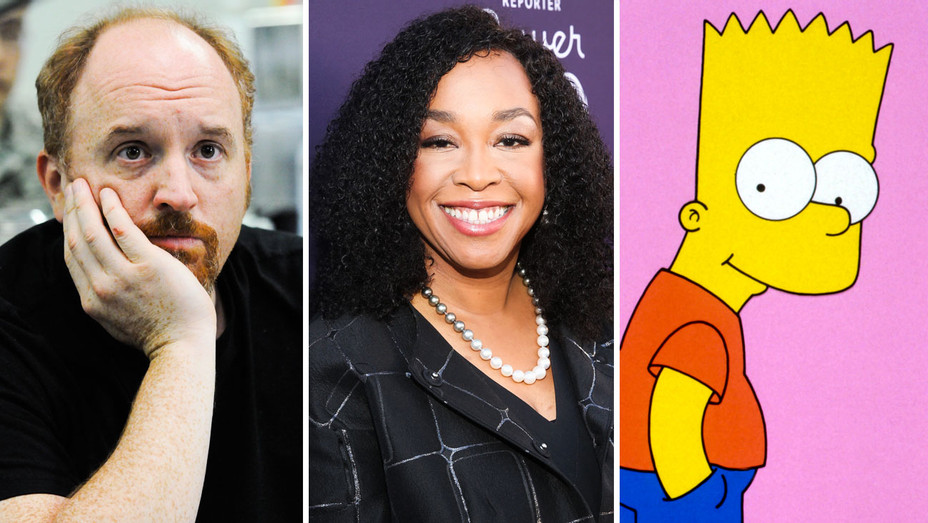 Louie Still, Shonda Rhimes and Bart Simpson - Split - Photofest - H 2017
