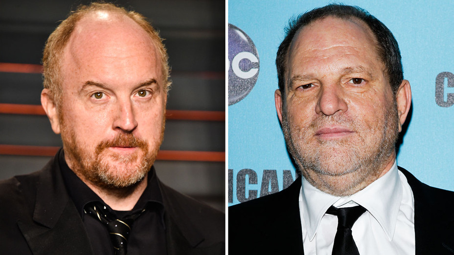 Louis C.K. and Harvey Weinstein - Split - Getty - H 2018