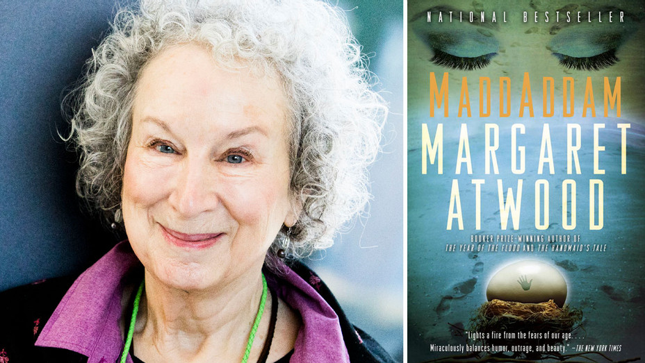 Margaret Atwood and Maddaddam Cover - Split - Getty - H 2018