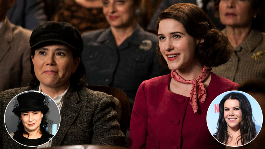 Marvelous Mrs. Maisel Still, Amy Sherman-Palladino and Lauren Graham - Inset - Getty - H 2018