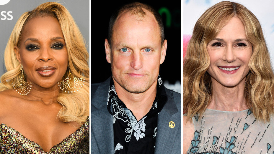 Mary J. Blige, Woody Harrelson and Holly Hunter - Split - Getty - H 2018