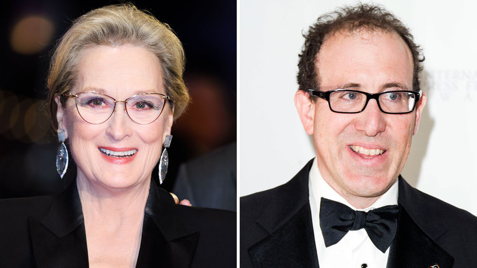 Meryl Streep and Joel Simon - Split - Getty - H 2018