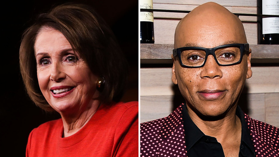 Nancy Pelosi and Rupaul - Split - Getty - H 2018