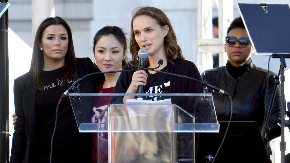 Natalie Portman Women's March LA 2018 - Getty Images - H 2018