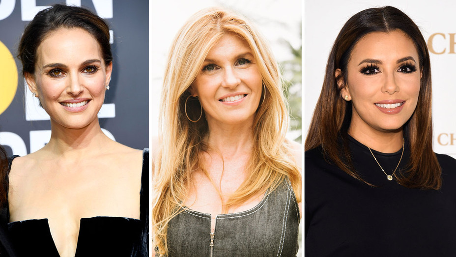 Natalie Portman, Connie Britton and Eva Longoria - Split - Getty - H 2018