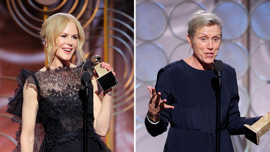 Nicole Kidman_Frances McDormand_Golden Globes_Split - Publicity - H 2018