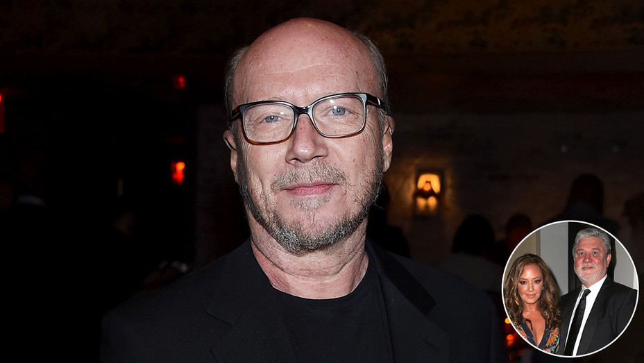 Paul Haggis and inset of Leah Remini and Mike Rinder-Getty-H 2018