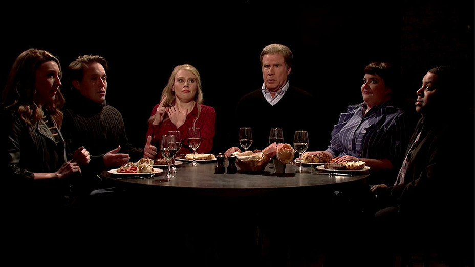 Saturday Night Live -dinner with friends -Screen Shot  H 2018