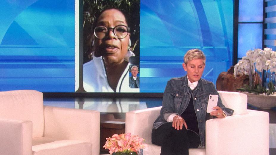 The Ellen Show Oprah Facetime - Screenshot - H 2018