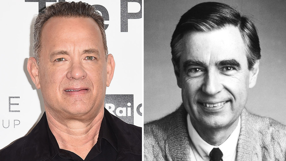 Tom Hanks and Mr. Rogers - Split - Getty - H 2018