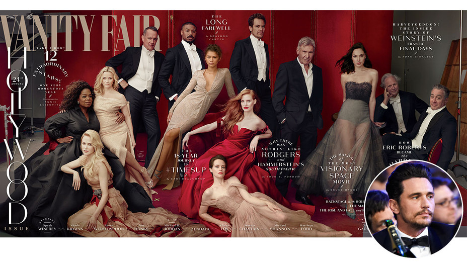 Vanity Fair Hollywood 2018 Cover and James Franco - Inset - Getty - H 2018