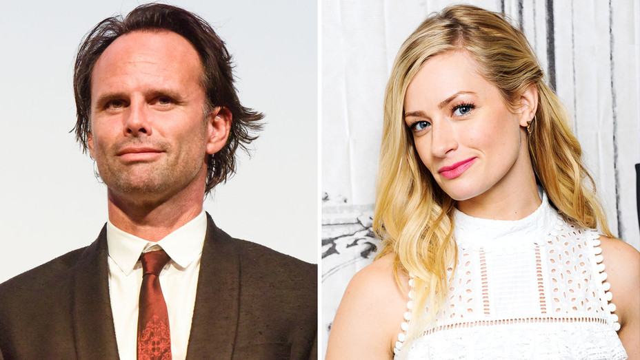 Walton Goggins and Beth Behrs - Split - Getty - H 2017