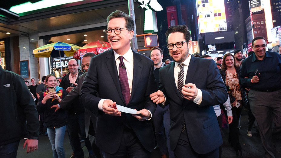 Stephen Colbert and J.J. Abrams Take 'Late Show' Audience to Broadway Play - Publicity-H 2018
