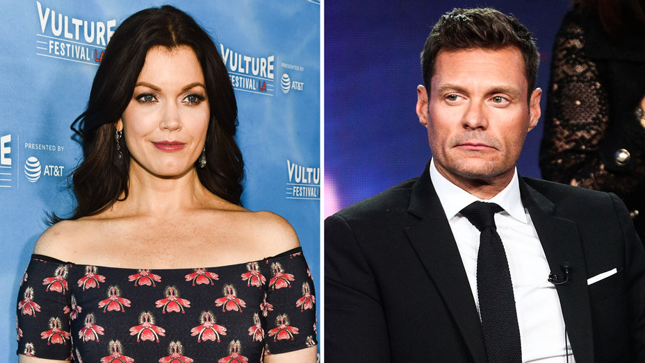 Bellamy Young and Ryan Seacrest - Split - Getty - H 2018