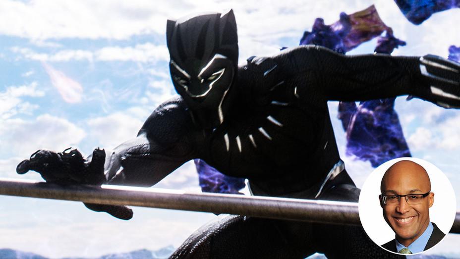 Black Panther Still and Alan Jenkins - Inset - Publicity - H 2018