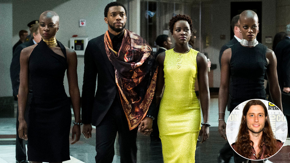 Black Panther Still and Ludwig Goransson - Inset - Getty - H 2018