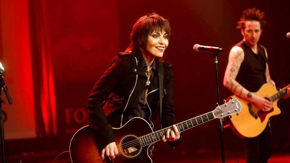 Joan Jett and the Blackhearts perform onstage during the USO 75th Anniversary Armed Forces Gala  -Getty-H 2018