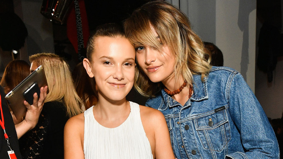 Millie Bobby Brown and Paris Jackson - Calvin Klein Collection Front Row - Getty - H 2018