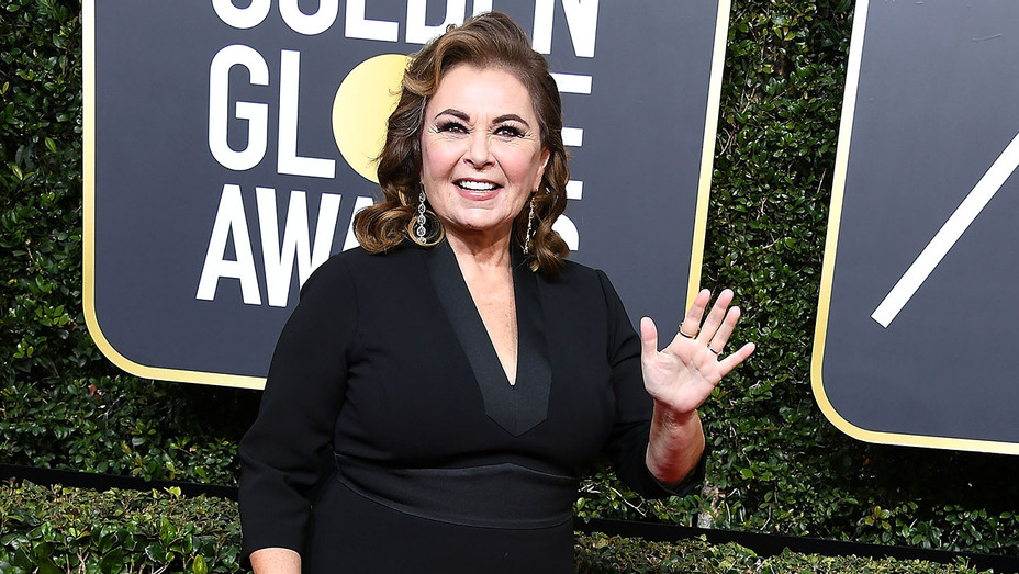 Roseanne Barr arrives at the 75th Annual Golden Globe Awards - Getty-H 2018