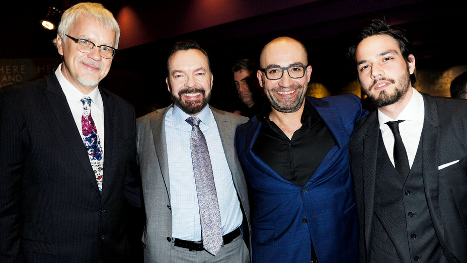 Tim Robbins, Alan Ball, Peter Macdissi and Daniel Zovatto - Here and Now Premiere - Getty - H 2018