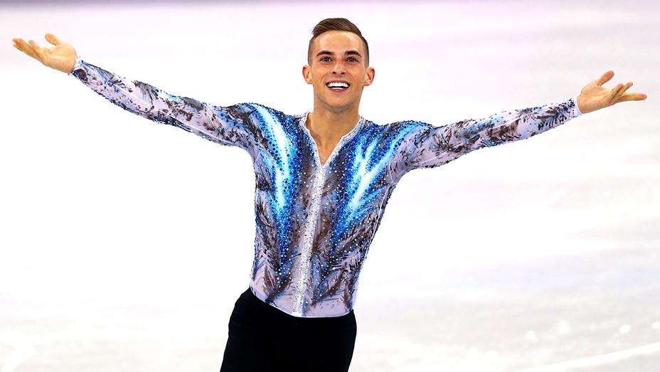 Adam Rippon S Crystal Covered Costumes Give Rihanna S Naked Dress A Run For Its Money Hollywood Reporter
