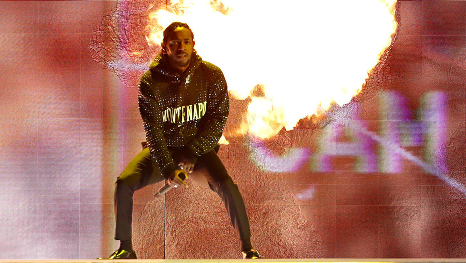 Kendrick Lamar peforms at The BRIT Awards 2018 - Stage -Getty-H 2018
