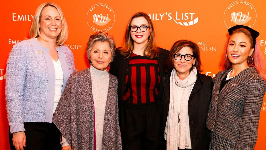 Stephanie Schriock, Barbara Boxer, Amber Tamblyn, Nina Tassler and Constance Wu - Getty - H 2018