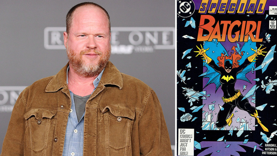Joss Whedon and Batgirl Comic Book Cover - Split - Getty - H 2018