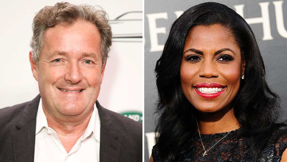 Piers Morgan and Omarosa - Split - Getty - H 2018