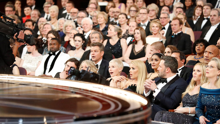 """<div>The stunned audience after Best Picture &quot&#x3B;La La Land&quot&#x3B; was discovered to be read by mistake, from backstage at the <span data-scayt_word=""""89th"""" data-scaytid=""""1"""">89th</span> Academy Awards on Sunday, February 26, 2017 at the Dolby <span data-scayt_word=""""Theatre"""" data-scaytid=""""2"""">Theatre</span> at Hollywood &amp&#x3B; Highland Center in Hollywood, CA.&nbsp&#x3B;</div>"""
