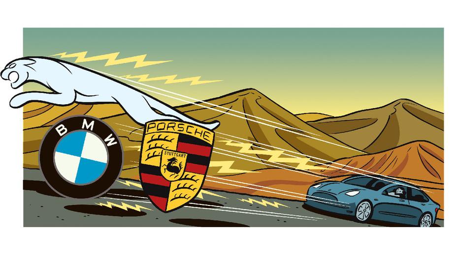 Electric Car Race - Illustration - H 2018